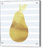 Gold  Pear - Art By Linda Woods Acrylic Print