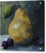 Gold Pear With Grapes  Acrylic Print