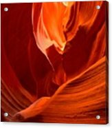 Gold Red And Orange Abstract Acrylic Print