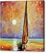 Gold Sail Acrylic Print