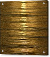 Gold Sea Acrylic Print