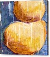 Gold Stones Acrylic Print