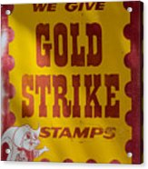 Gold Strike Stamps Acrylic Print