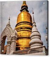 Gold Stupa Acrylic Print