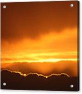 Gold Sunset Acrylic Print