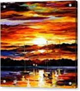 Gold Sunset Acrylic Print