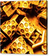 Gold Treasures Acrylic Print