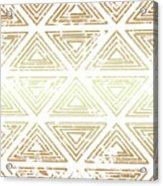 Gold Tribal Acrylic Print