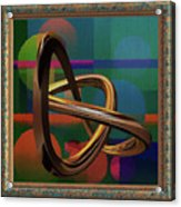Golden Abstract Acrylic Print