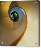 Golden And Brown Spiral Staircase Acrylic Print
