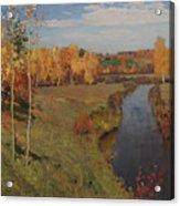 Golden Autumn Acrylic Print