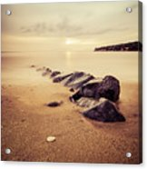 Golden Beach Acrylic Print