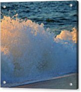 Golden Blue Splash Acrylic Print