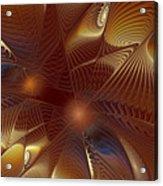Golden Bronze Swirl Acrylic Print