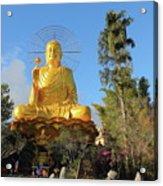 Golden Buddha In Vietnam Dalat Acrylic Print