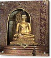 Golden Buddha Of Chang Mai Acrylic Print