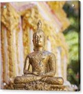 Golden Buddha Ornament Acrylic Print