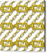 Golden Chains With White Background Seamless Texture Acrylic Print