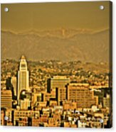 Golden City Hall La Acrylic Print