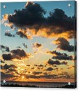 Golden Cloud Sunrise Delray Beach Florida Acrylic Print