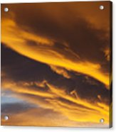 Golden Clouds Acrylic Print by Garry Gay
