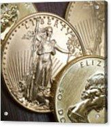 Golden Coins Acrylic Print