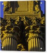 Golden Columns Palace Of Fine Arts Acrylic Print