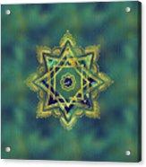 Golden Decorative Star Of Lakshmi - Ashthalakshmi  Acrylic Print