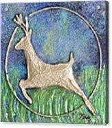 Golden Deer Acrylic Print