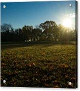 Golden Dew Autumn Sunrise Acrylic Print