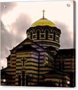 Golden Dome Acrylic Print