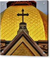 Golden Dome Notre Dame Acrylic Print