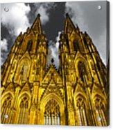 Golden Dome Of Cologne Acrylic Print by Thomas Splietker