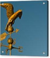 Golden Eagle Weather Vane Acrylic Print
