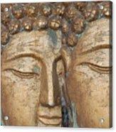 Golden Faces Of Buddha Acrylic Print