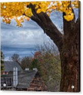 Golden Fall Colors Over Iron Works Acrylic Print