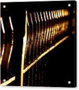 Golden Fence Acrylic Print