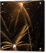 Golden Fireworks Acrylic Print