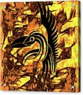 Golden Flight Contemporary Abstract Acrylic Print