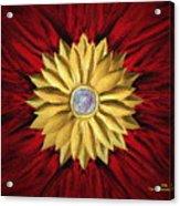 Golden Flower Acrylic Print