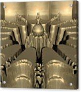 Golden Fractal #1 Acrylic Print