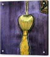Golden Fringe Acrylic Print