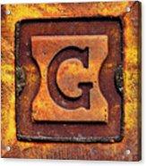 Golden G Acrylic Print