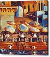 Golden Ganges Acrylic Print