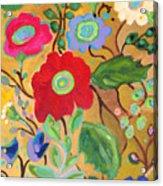 Golden Garden Acrylic Print