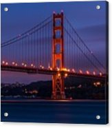 Golden Gate At Dusk Acrylic Print