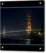 Golden Gate At Night Acrylic Print