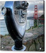 Golden Gate Binoculars Acrylic Print by Peter Tellone