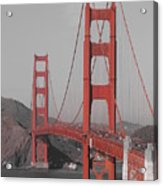 Golden Gate Black And White Acrylic Print