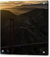Golden Gate Bridge And Marin County At Sunset Acrylic Print